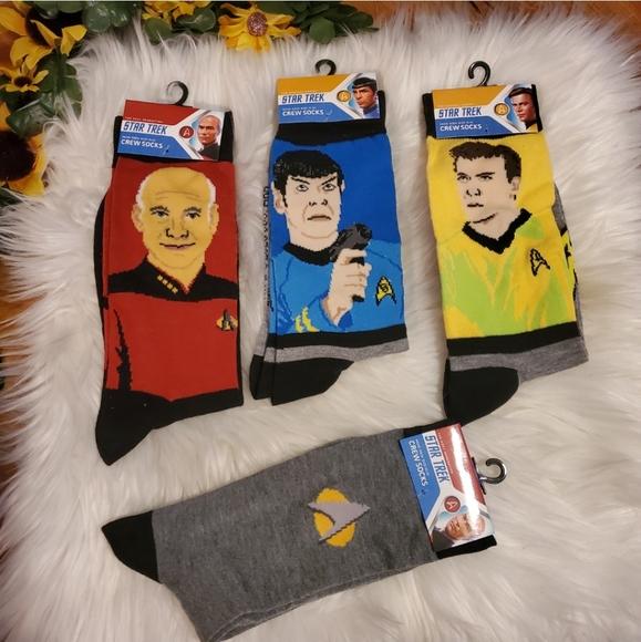 4 pairs of men's Star Trek socks sz 10-13 New